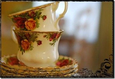 This is my High Tea china pattern - Old Country Rose!