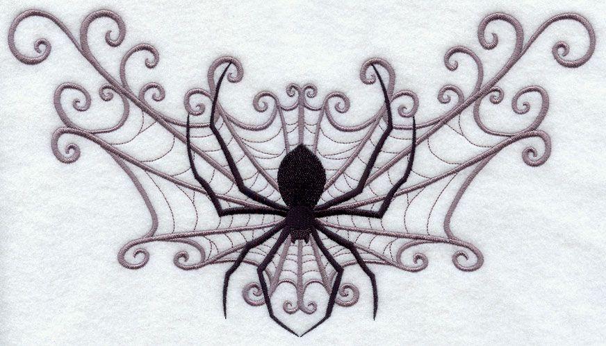 spider web spray machine embroidery design