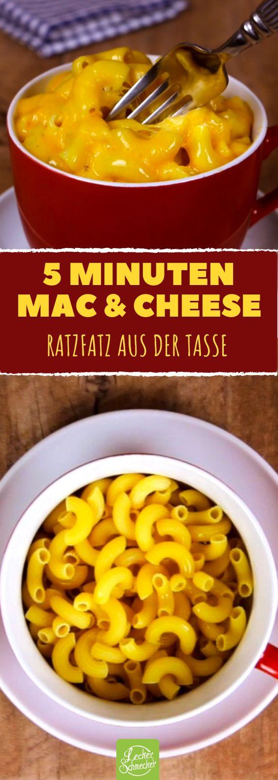 Mac and cheese pasta als super schnelles tassen rezept aus - Reis kochen mikrowelle ...