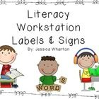 "These are the signs I use in my classroom for my literacy workstation/centers rotation. I have also included ""I Can"" statements with the CCSS that ..."