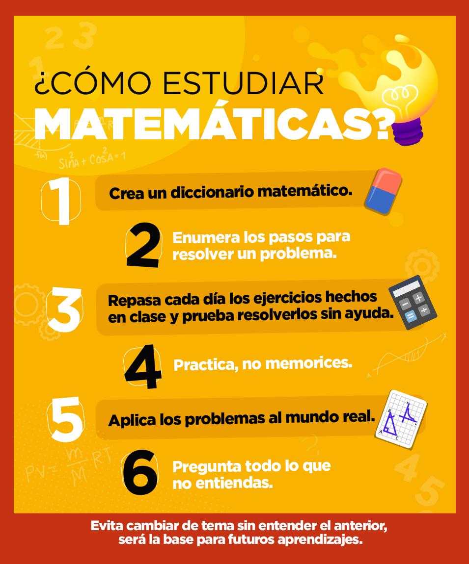 Educación En 2020 Como Estudiar Matematicas Consejos Para Estudiar En El Colegio Metodos Para Estudiar