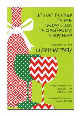 Free Printable Christmas Open House Invitation Templates  Free Xmas Invitations