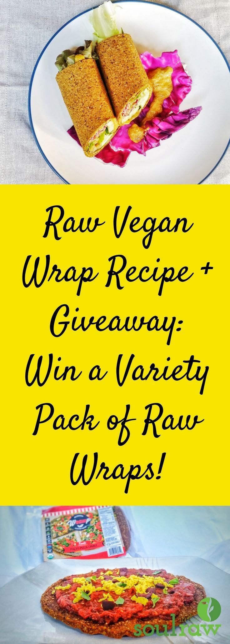 Raw Vegan Wraps Recipe No Dehydrator Needed Recipe Raw Vegan Wrap Recipes Whole Food Recipes