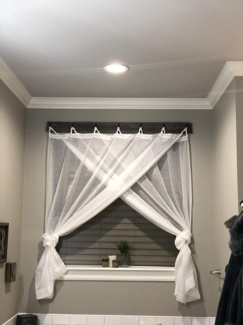 Reclaimed Barn Wood Farmhouse Curtains