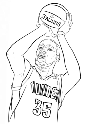How To Draw Kevin Durant : kevin, durant, Ausmalbilder, Ausmalbild, Kevin, Durant, Kostenlos, Ausdrucken
