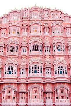 Pink architecture building