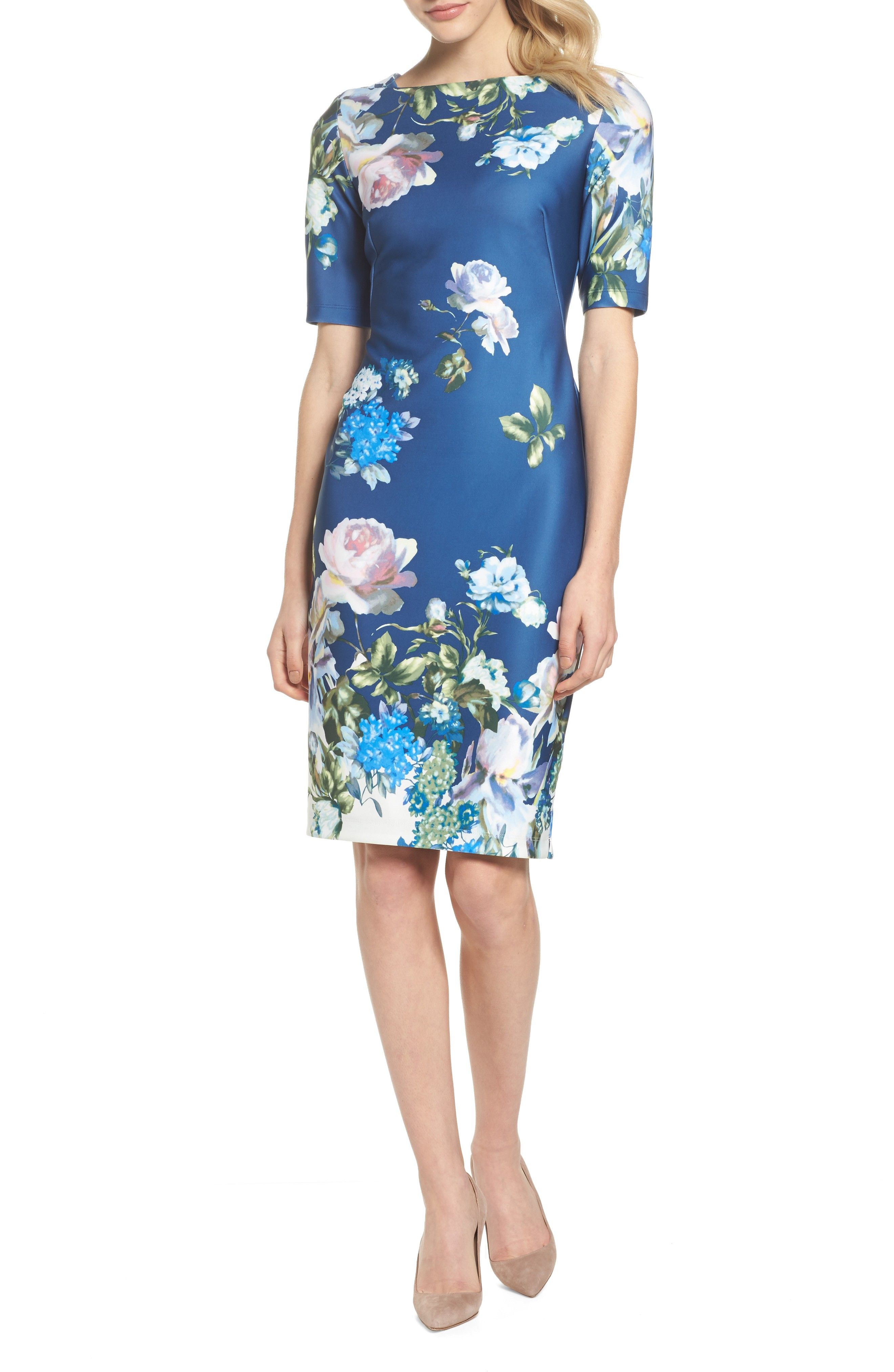 Pretty blue floral dress for #spring wedding guests #ad | Wedding ...