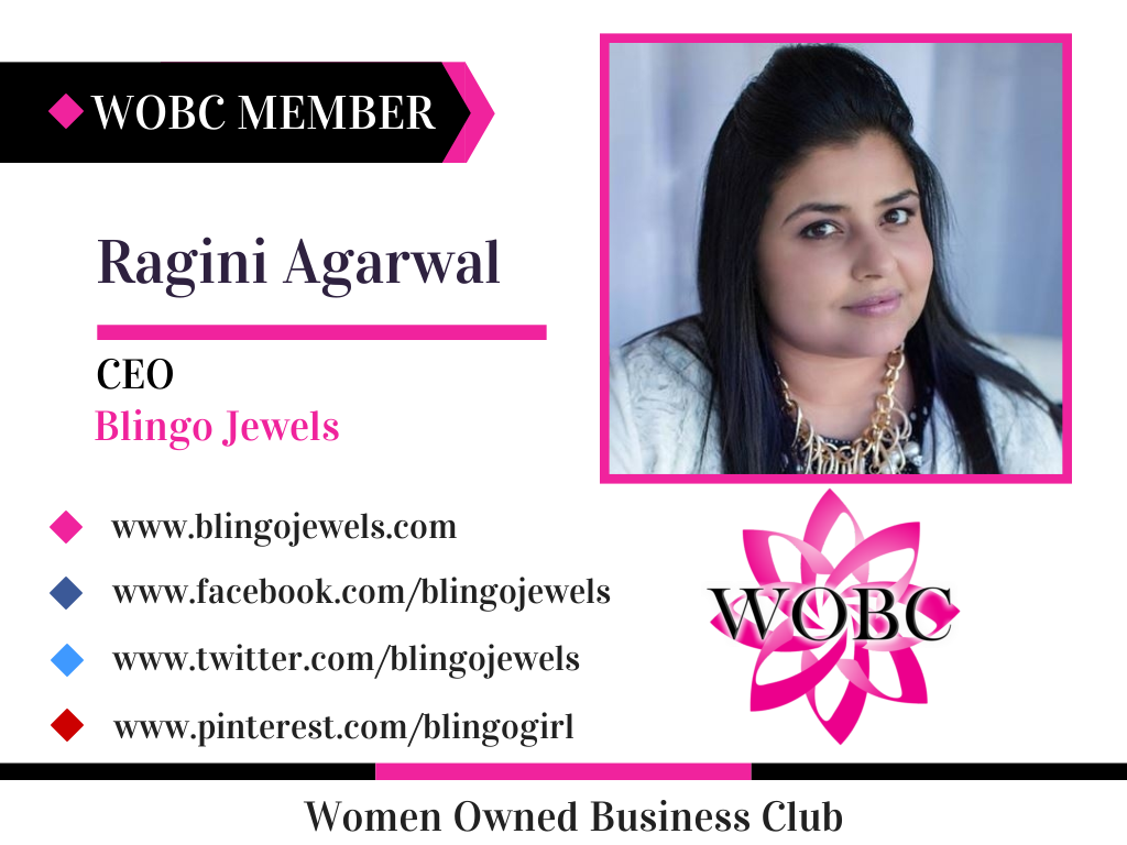 Ragini Agarwal - CEO - Blingo Jewels Blingo is all about your sophisticated woman who also has a playful side.