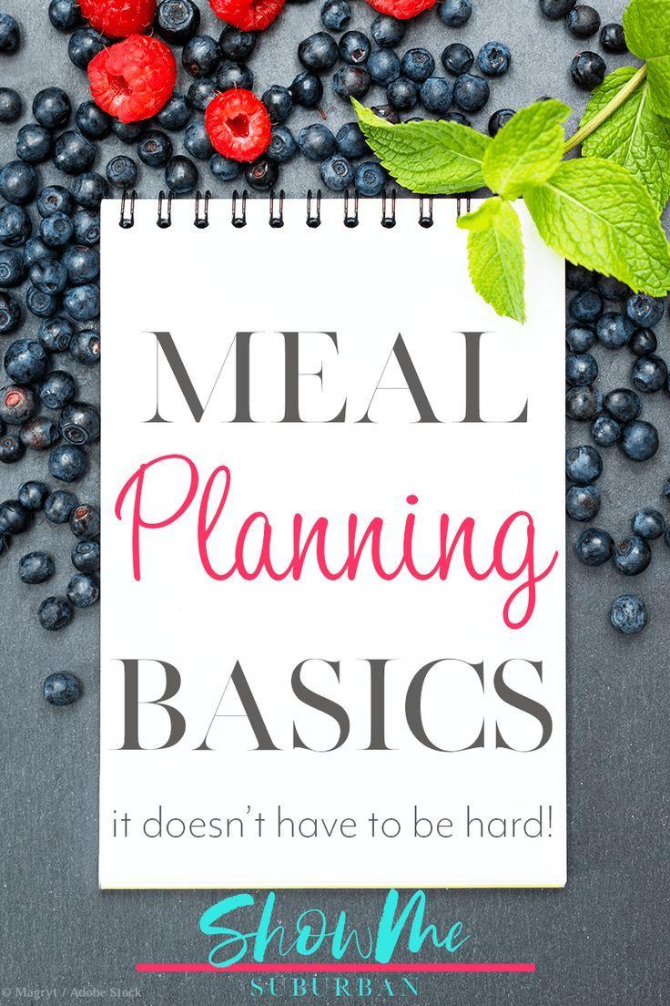 Grundlagen der Essensplanung   – meal planning