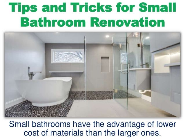 Tips and Tricks for Small Bathroom Renovation Modern Bathroom