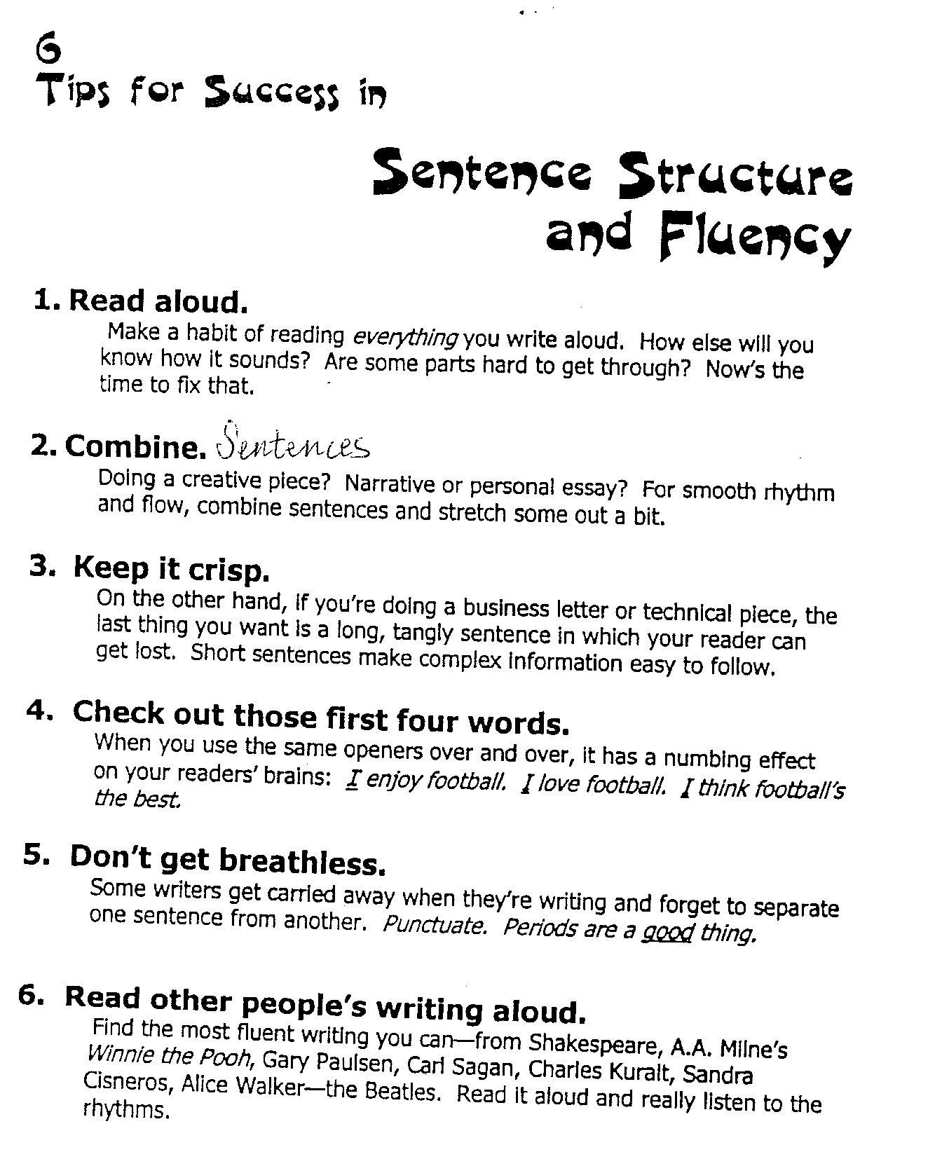 Sentence Fluency Google Search Writing Instruction Writing Traits Sentence Fluency [ 1654 x 1344 Pixel ]