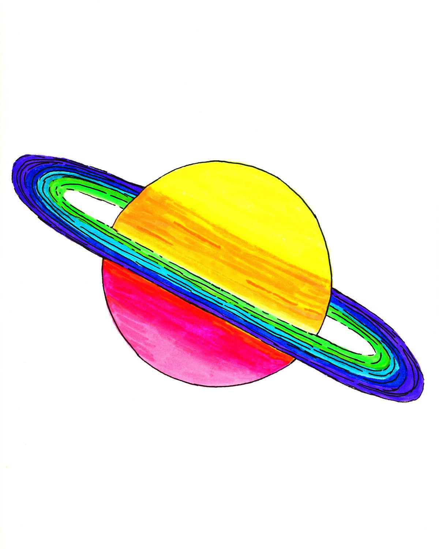 Saturn Wall Art | Planet Poster Print | NASA Astronomy Wall Decor ...