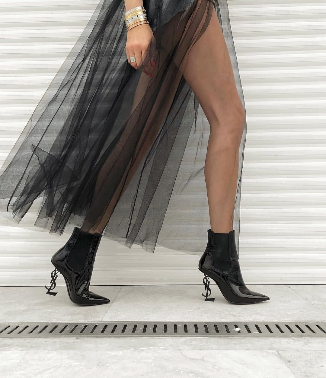 """0405dcc7832 Dressing is a way of life"""" -  YvesSaintLaurent  HM skirt with ..."""