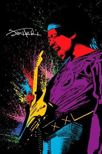 """Poster Musique JIMI HENDRIX """"Paint"""" - Affiche du Guitar Hero Dans une Explosion de Solos ! - Merchandising 100% Officiel Jimi Hendrix Découvrez Tout Notre MAGASIN JIMI HENDRIX ! #JimiHendrix #Hendrix #Poster"""