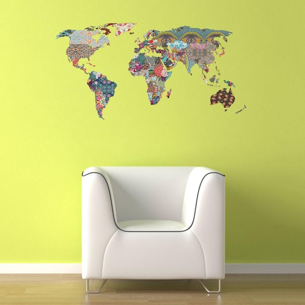 IRREGULAR Collage World Map Wall Decal by Bianca Green