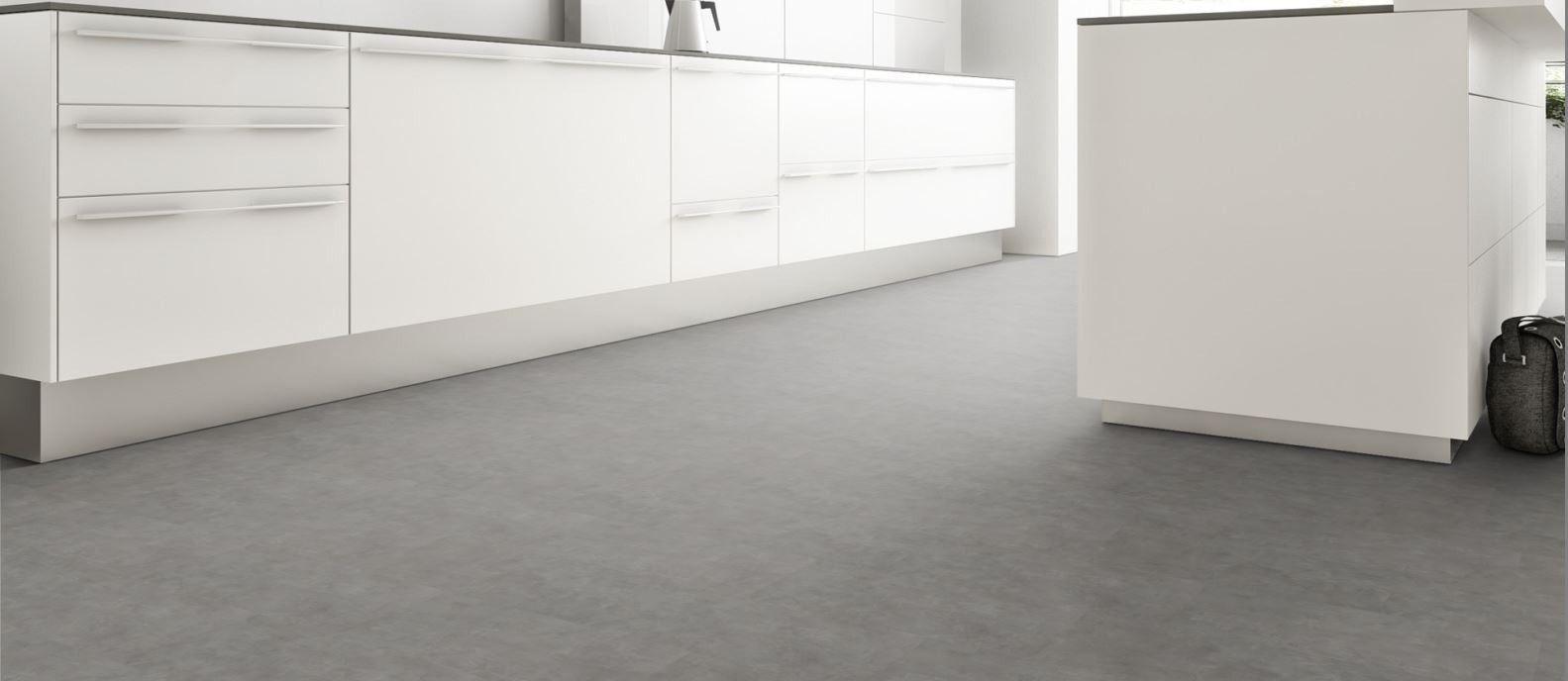 Klick Vinyl Fliesen Stone Messina Beton Steinoptik Interior - Vinylboden für nassräume