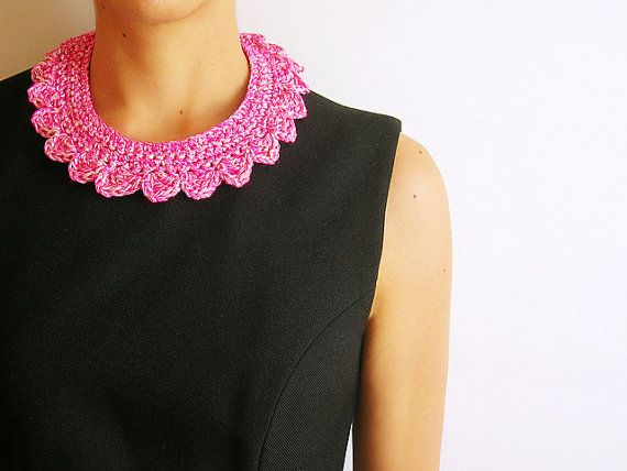 Necklace Collar by ICrochetPassion on Etsy