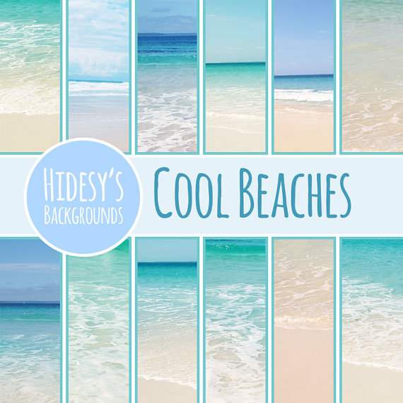 21+ Beach Colors Digital Papers Crafter Files