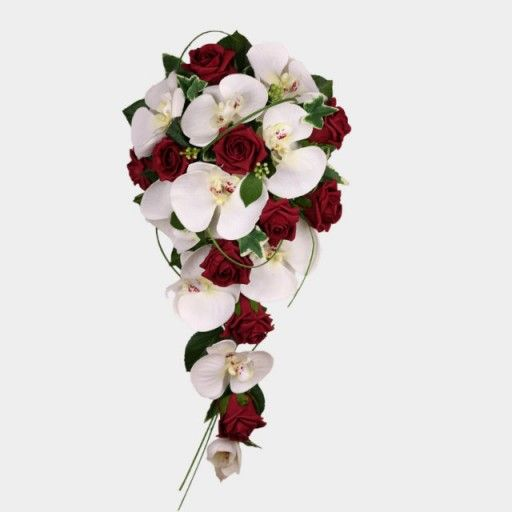 A shower bouquet of white and burgundy brides shower bouquets a shower bouquet of white and burgundy mightylinksfo