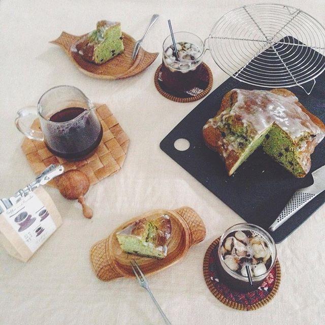 2015.7.27.  抹茶のパウンドケーキ  #いまくま食堂 by kima2005