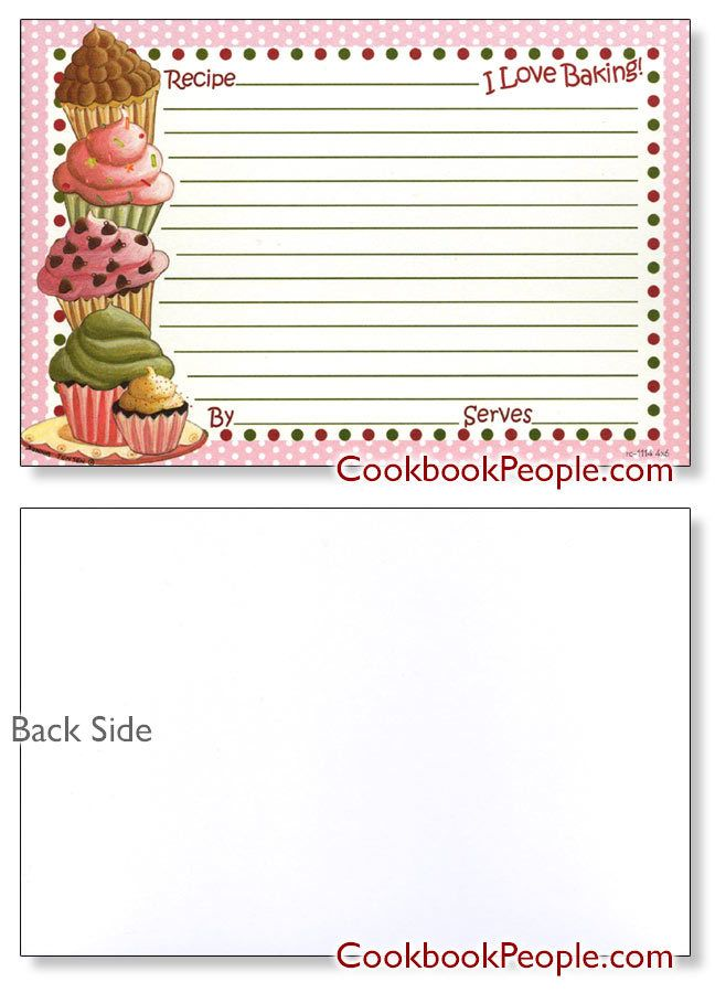 personal 4x6 recipe cardsearth friendly made in usa cupcakes 4x6 recipe card templates