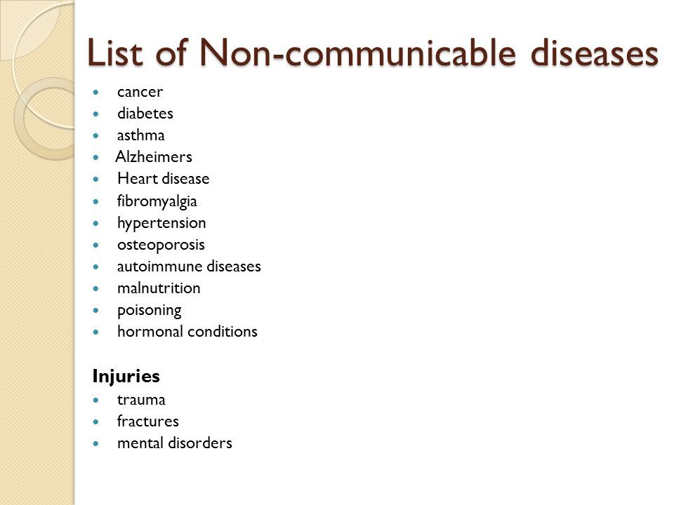 List+of+noncommunicable+diseasesg (960×720)  My Own. Organic Mattress Denver Liposuction Neck Cost. Mechanical Engineering Universities. Principle Of Information System. Registered Agents In Virginia. Unlawful Termination Lawyers. Medical Malpractice Attorney Ohio. Current Mortgage Rates In Florida. Major Depression Diagnosis Get An 800 Number