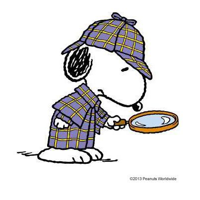 Snoopy Sherlock-my children know how i love research...