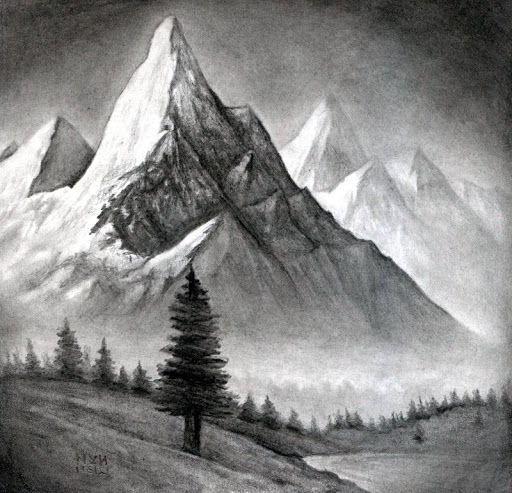 Wie Zeichnet Man Landschaften Schnell Und Storungsfrei Schrittgeschwindigkeit Zum Besten Von Schrittgeschwindigkeit Kann Ma Pencil Landscape Drawing Landscape Pencil Drawings Landscape Drawings Realistic Drawings