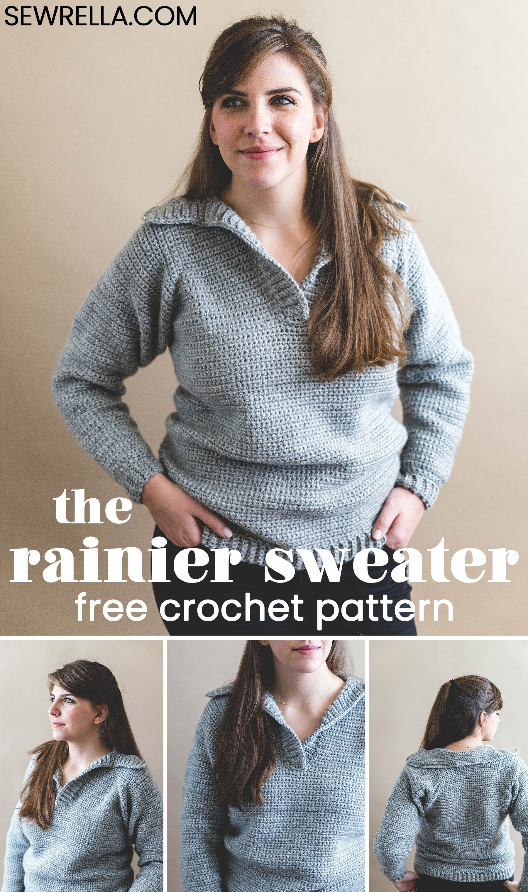 26bf730787c27 Sizes XS-3XL and a photo tutorial to help you through - included in the  free pattern!  crochet  freepattern  sweater  pullover ...