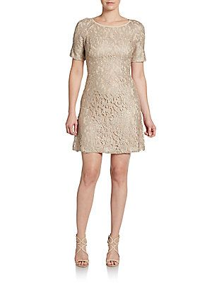 Lace Empire Mini Dress