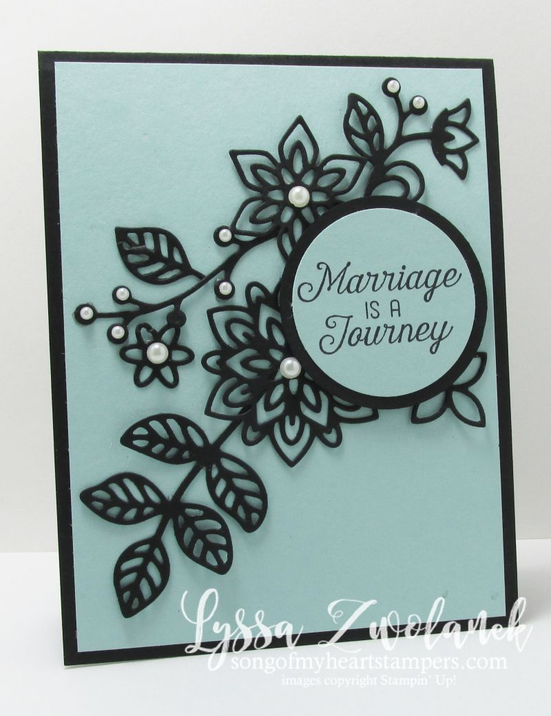 These amazing looks for the new Flourish Thinlets rock my socks off! Flourishing phrases flowering thinlets wedding card stampin up