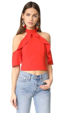 bd7656606fd9aa Alyssa Off Shoulder Halter Blouse | S/Summer 2017 | Fashion, Tops ...