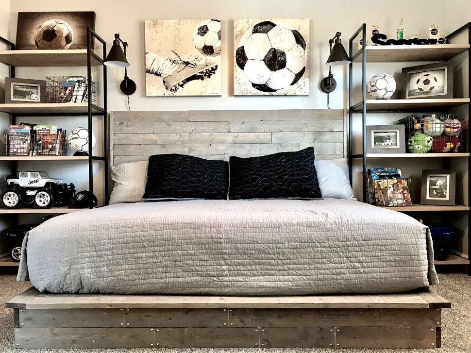 Bedroom Kids Sports Decor Football Decorating Ideas Room Wall Gorgeous Car Wallpaper Accessories Vintage Toddler