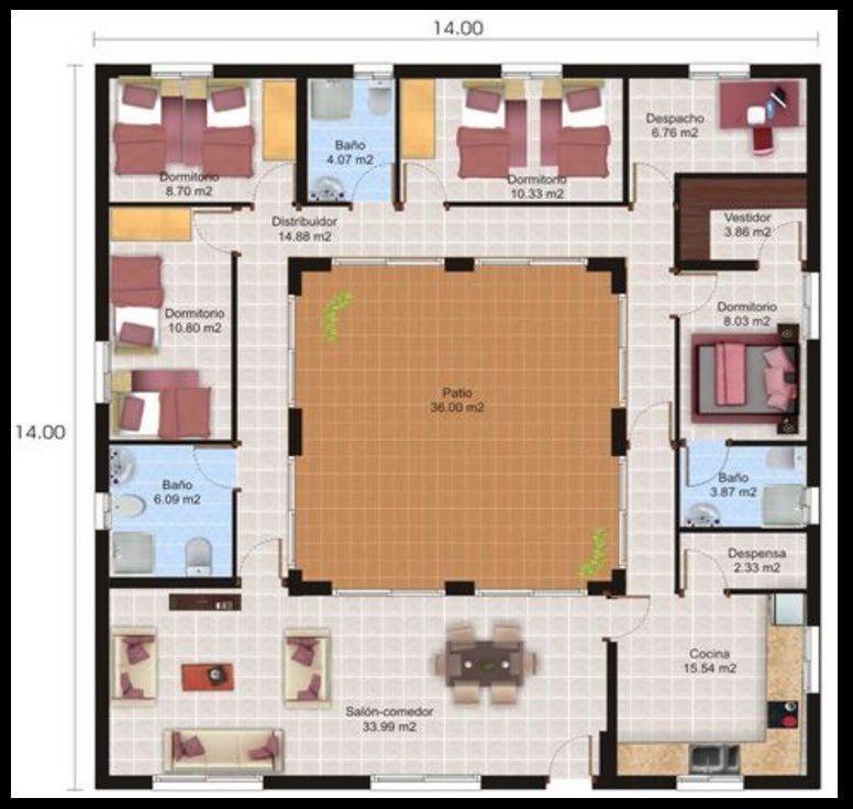 Planos de casas gratis para construir Todito Pinterest