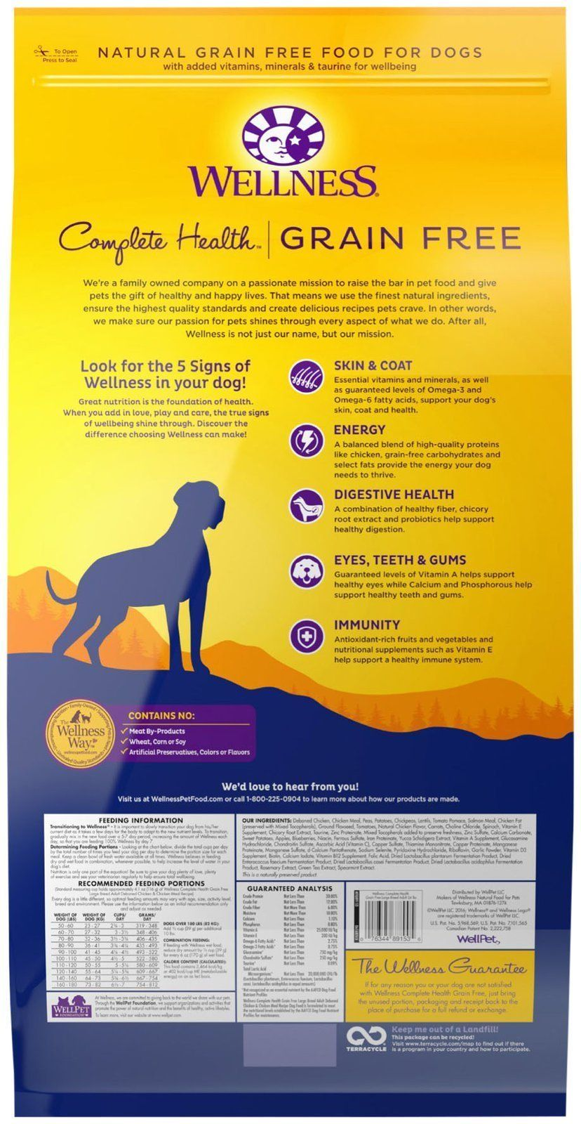 Wellness Complete Health Natural Grain Free Dry Large Breed Dog
