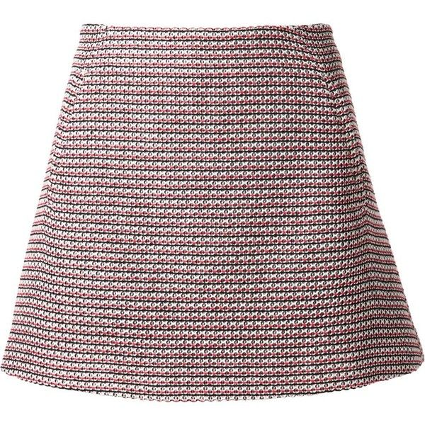 Thakoon A-line knitted skirt ($410) ❤ liked on Polyvore featuring skirts, multicolour, a line skirt, thakoon, knee length a line skirt, colorful skirts e multicolor skirt
