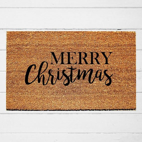 Merry Christmas Doormat Welcome Mat Door Mat Outdoor Rug