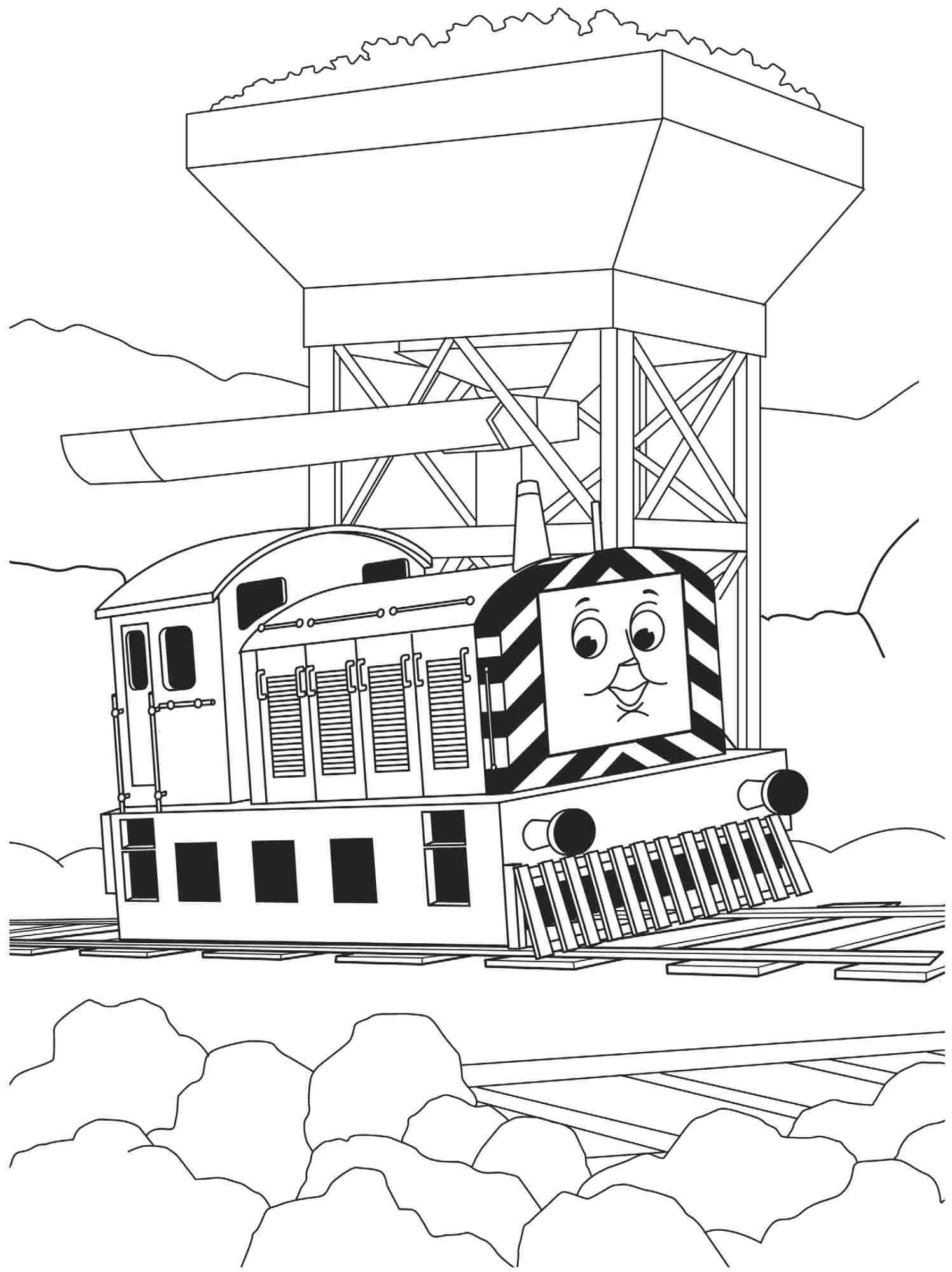 Cartoon Thomas The Train And Friends Coloring Pages Free For Boys