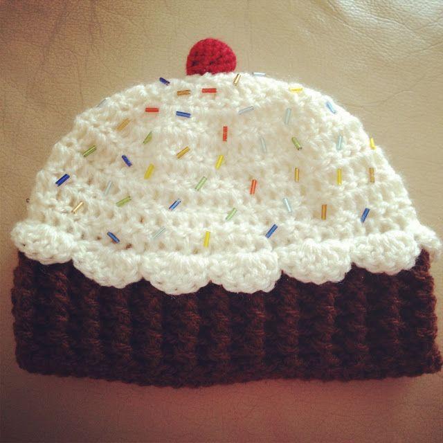 Angelas Crafts: Baby cupcake hat - Gorro de cupcake para bebé | lui ...