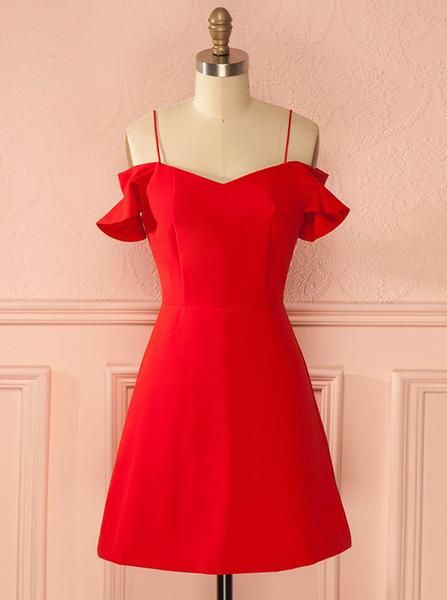 , Red Homecoming Dresses Short,Straps Homecoming Dress,Simple Homecoming Dress teen – Wishingdress, My Pop Star Kda Blog, My Pop Star Kda Blog