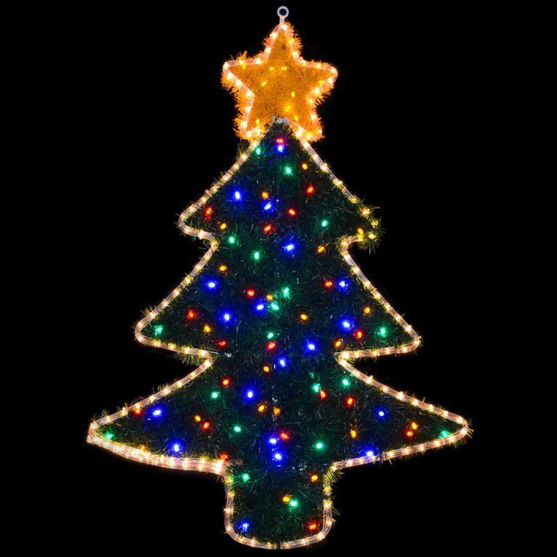 Mains voltage festive christmas tree rope light with coloured mains voltage festive christmas tree rope light with coloured tinsel indoor outdoor use 98cm x aloadofball Choice Image