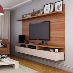 Painel para tv zeus 2 2 natural e off white tv for Meuble tv zeus