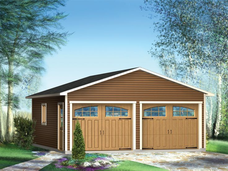 072G0005 TwoCar Garage Plan Available in Multiple Sizes