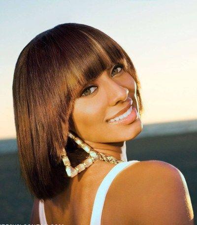 Keri hilson short hairstyle with bangs bob haircuts pinterest keri hilson short hairstyle with bangs urmus Images