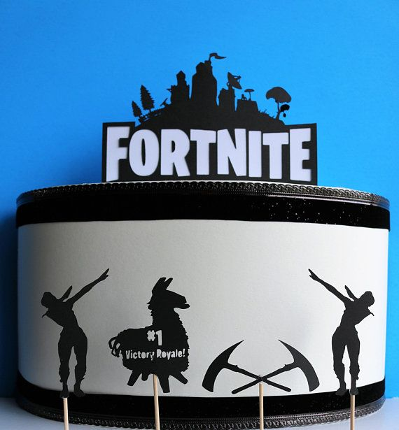 Fortnite Cake Topper 5 Pieces Small Pieces Can Also Be