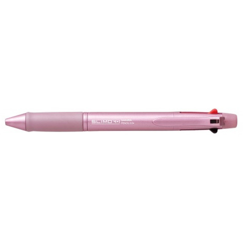 Buy online #Sakura #Slimo 4 plus 1 #Pen-cum-#Pencil (Metallic Pink) @ p3store.com for Rs.330/-