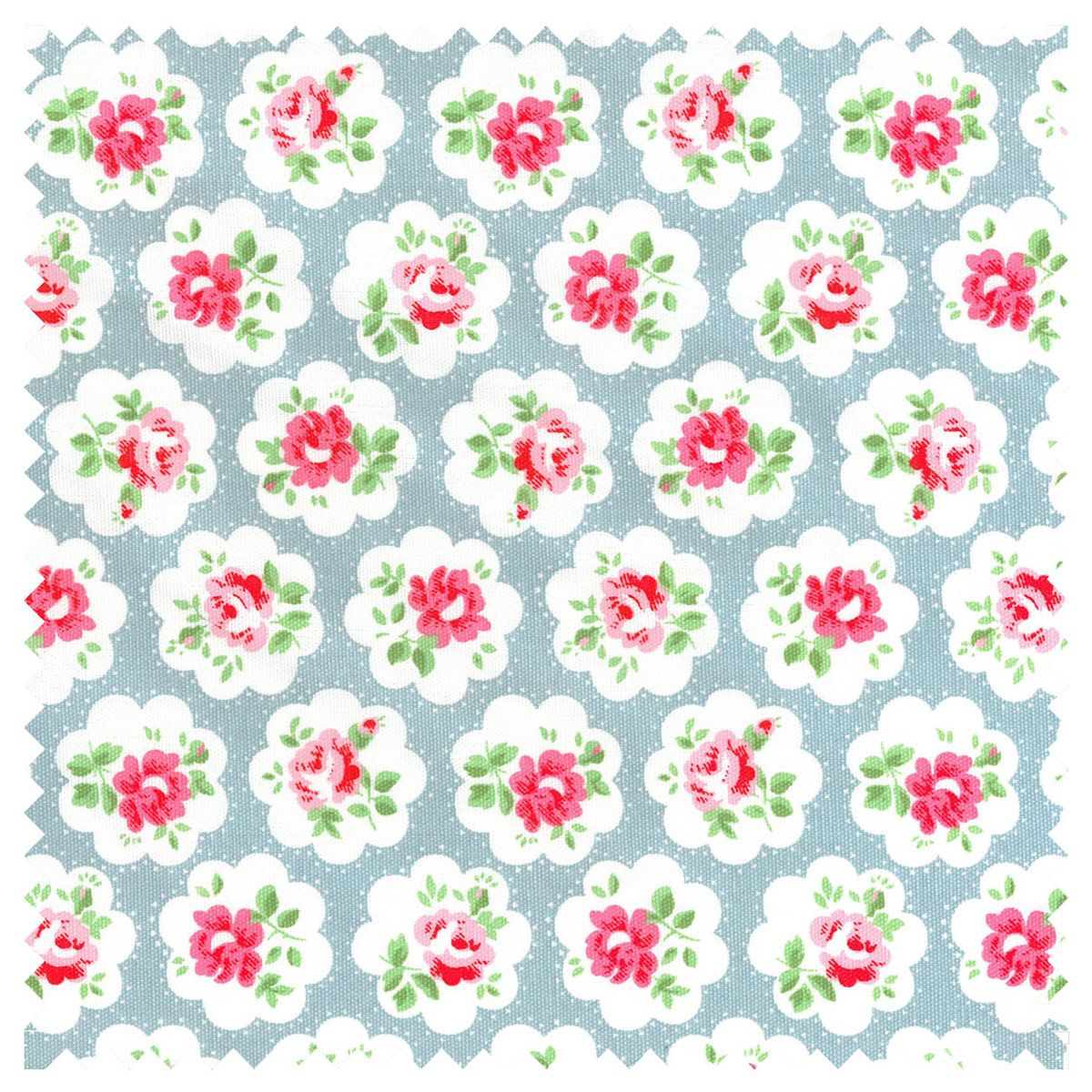 Cotton Fabric | Provence Rose Large Cotton Duck | CathKidston