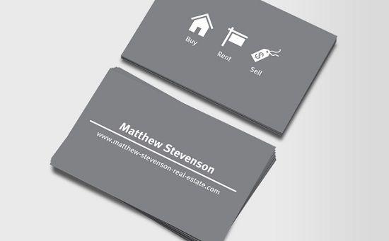 Iconography real estate business card design clean logo iconography real estate business card design colourmoves