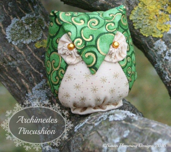 Pattern for Archimedes Owl Pincushion found on Super Mom - No Cape!
