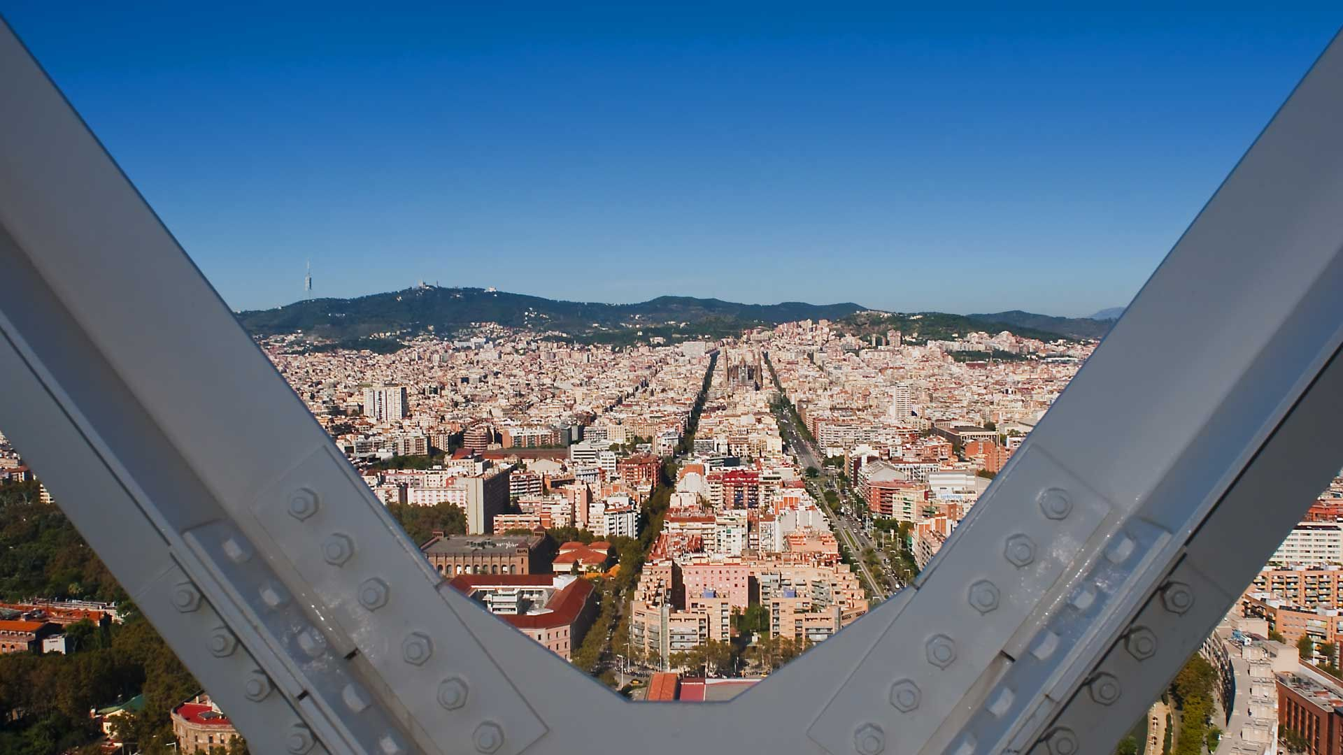 View over Barcelona by day,